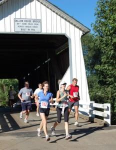 The course includes the historic Gallon House Bridge.