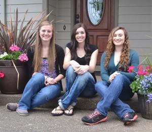 JFK Valedictorians: Sadie Manley, Mackenzie Kloft and Liana Bryde.