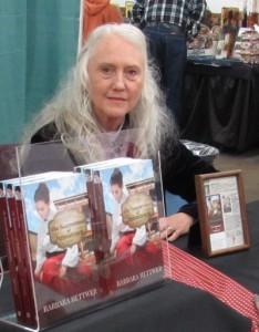 "Barbara Hettwer of Scotts Mills, author of ""The Seamstress of Jamestown."""