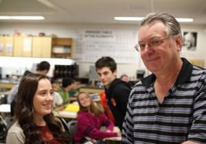 Jim Brueckner in his classroom.