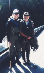 Kali with her fishing buddy Richard.