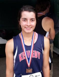 JFK's Kaylin Cantu took second in the 1500