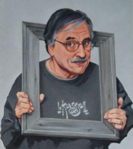Larry Kassell in self portrait.