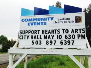 Santiam Hearts to Arts