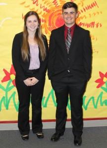 Santiam High School senior Lindsey Reeser is salutatorian and Andrew Grenbemer is valedictorian.